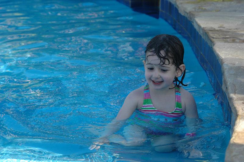 Sam enjoying the pool