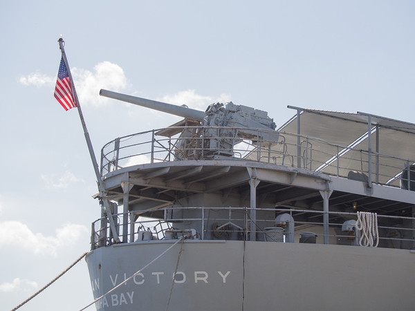 5 Inch naval gun on the stern of the American Victory
