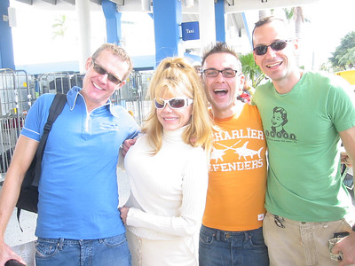 We met Charo when checking in our luggage