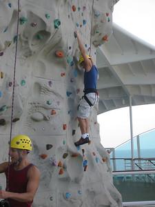 I'm climbing the rock wall