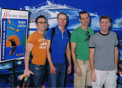 Our welcome aboard photo