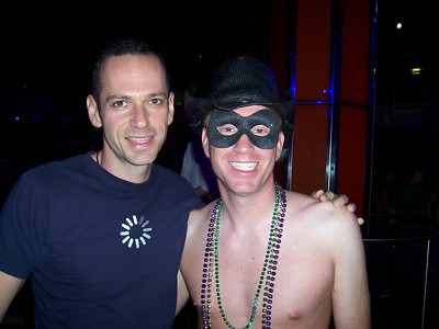 Me and Ted ready for the Mardi Gras party