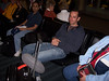 """The obligatory """"Ted Waiting for the Red-Eye Flight"""" photo.  We had a medical emergency for a second year in a row.  Ken is seated next to him.  He was also on our flight."""