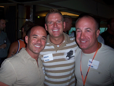 Hot New York Boys Rob and Bobby (with Troy) at the Alumni cocktail party.