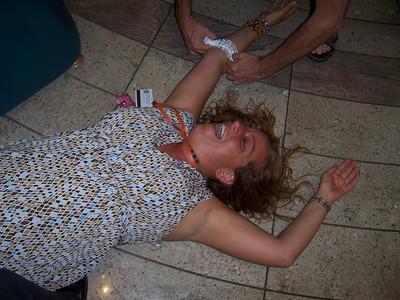 Shann got the garter at the gay wedding
