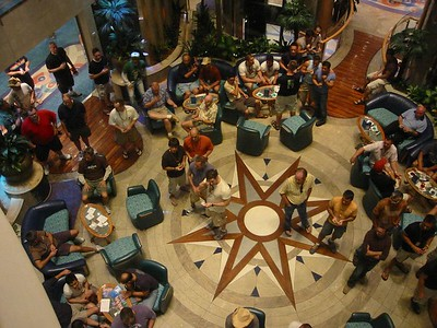 The floor of the atrium.  Always a good meeting place.
