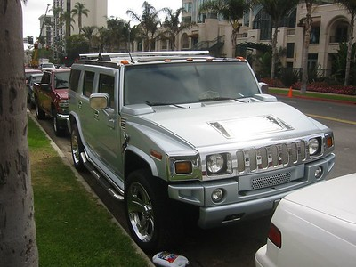 The powder blue hummer is just wrong.