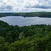 View from the top of the scenic observation tower in Dorset Ontario