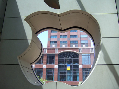 The Apple store looking out to Michigan Ave aka The Mirracle Mile