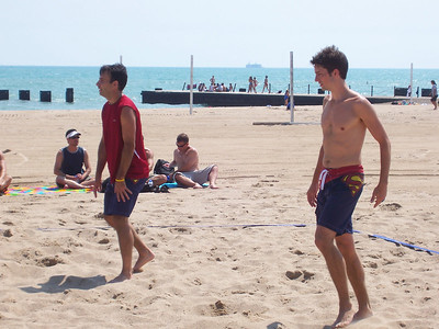 Beach volleyball, very hot!