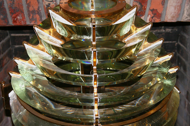 an old lighthouse lens, St. Augustine lighthouse, FL