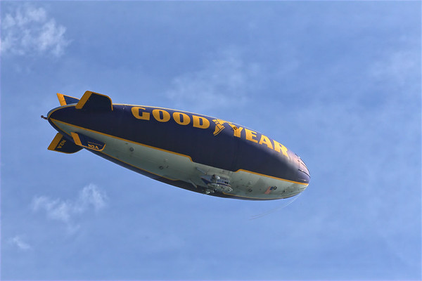 Blimp over the beach  http://www.goodyearblimp.com/