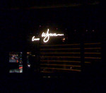 View from my bed.  The Wynn signs lit up my room but I'm used to sleeping with some light.