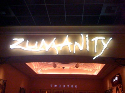 Zumanity was my favorite Cirque show I've seen.  A lot more fun and interesting than the others.  Plus plenty of flesh.  And Christopher gave us a back stage tour.