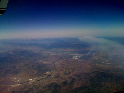 Tahoe, Reno, and the California smoke invading Nevada.