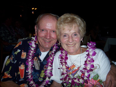 My parents at the Luau.  I had this photo printed out and framed and gave it to them on their anniversary the next day.