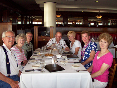 This was the anniversary dinner.  Notice that we are all sitting in the same seat placements that we had the night before.