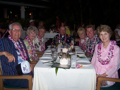The whole family there at the Luau.