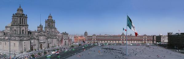 The Square in Mexico City. The Zocalo.