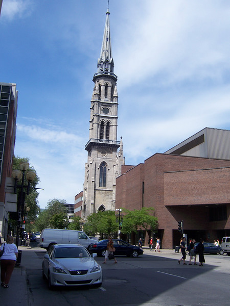Welcome to Montreal.  Home to lots of churches and lots of strippers.  This is one of the churches.