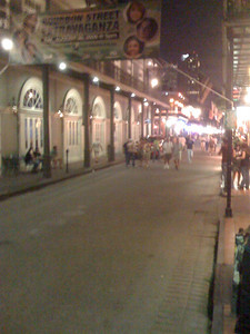 Nighttime on Bourbon St