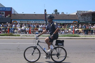 Even hotter cop on a bike.  Is he gay?  Who cares.