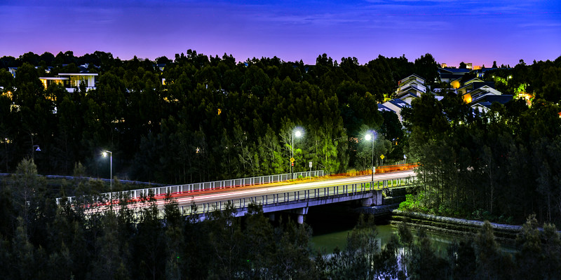 Bridge on John Ian Wing Parade, Newington, NSW, Australia