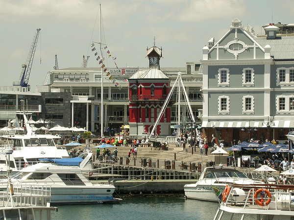 Cape Town harbour and Clock Tower