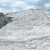 Mountain of mineral salts at a hotspring in Yellowstone