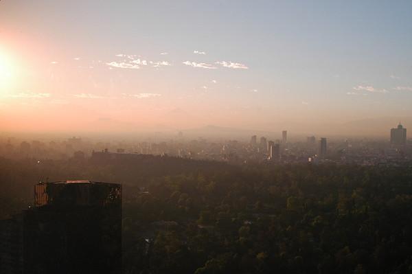 Sunrise over Mexico City