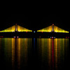 Tampa Bay Bridge at Night