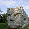 Sculpture of CHief Leather Lips in Dublin Ohio