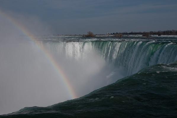 Rainbow at the brink