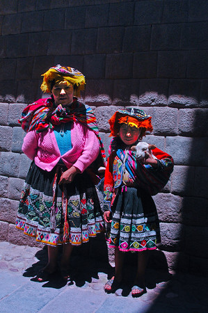 Peruvians in traditional native dress