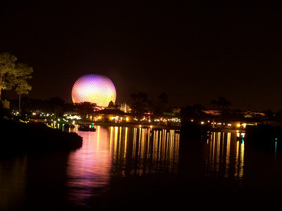 Spaceship Earth after dark