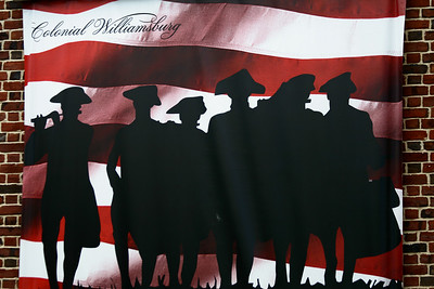 Banner at the Visitor's center, Colonial Williamsburg, Va http://www.history.org/
