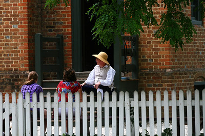 outside the Public Gaol, Colonial Williamsburg, Va http://www.history.org/