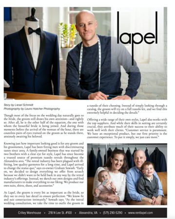 Published in February 2020 edition of VIP Alexandria Magazine
