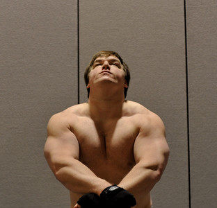 Feb. 18th 2009. Bulking Phase 1 has begun.  I started my bulking training Jan. 18th 2009. I am at 251 lbs in this picture.