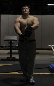 Feb. 18th 2009. Bulking Phase 1 has begun.  I started my bulking training Jan. 18th 2009. I am at 251 lbs. in this picture.