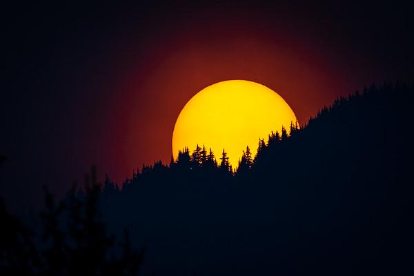 The sun - Whistler B.C.