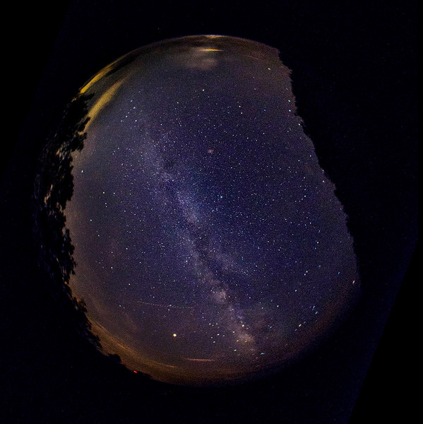 Milky Way with 180 degree fish eye