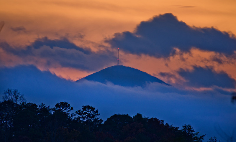 Mt. Pisgah seen from my driveway, 20 miles away
