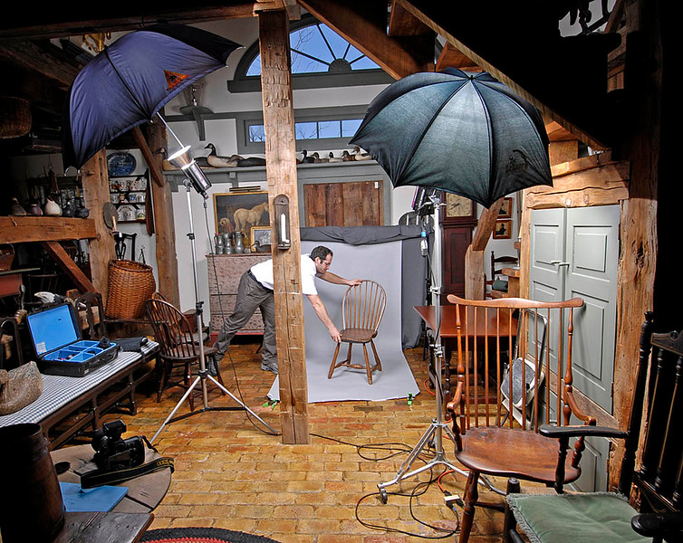 I spent several days working in this difficult setting shooting an antique catalog.