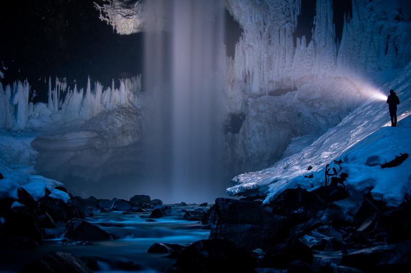 Brandywine Falls, British Columbia - John Entwistle (self portrait)