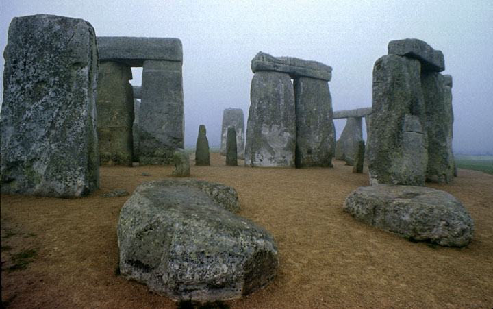 Stonehenge in the early morning in 1975.