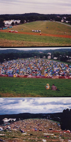 Woodstock Fest II  1994  Camping area Before, During, and After event.