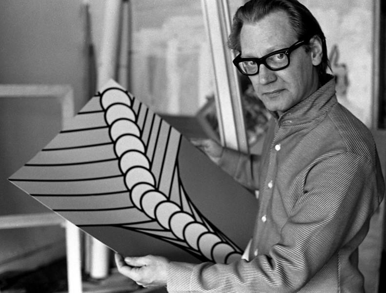 Nicholas Krushenick in 1968 NYC