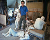 George Segal at home in his second floor studio in NJ.