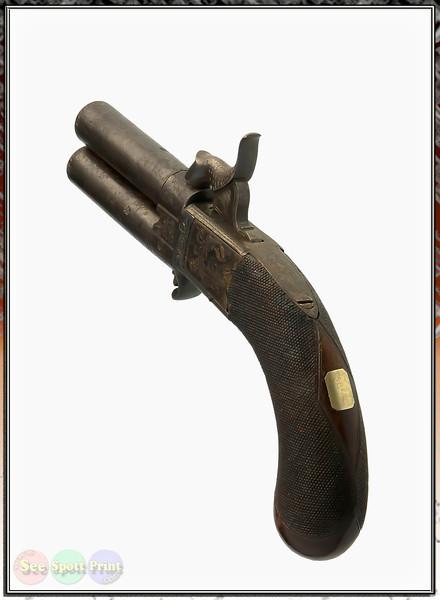 Antique Dbl Brl Handgun (40)) X IP